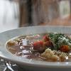 Sopa de cocido o de marisco